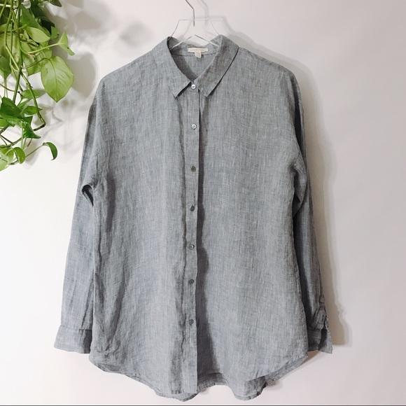 7da50b59 Eileen Fisher Tops   100 Organic Linen Button Up Shirt   Poshmark
